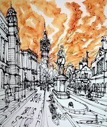 Whitehall at the Duke of Cambridge by Ingo -  sized 35x43 inches. Available from Whitewall Galleries